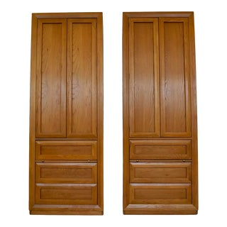 Pair of 1970's Thomasvillle Armoires For Sale