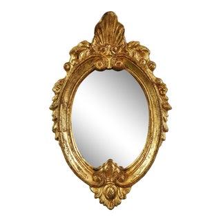 Florentia Petite Oval Gilt Wood Mirror For Sale