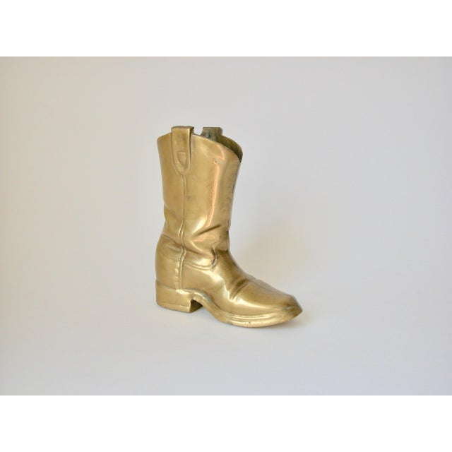 Brass Cowboy Boot For Sale - Image 9 of 9