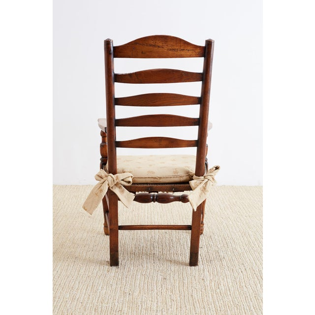 19th Century English Ladder Back Chair For Sale - Image 10 of 13
