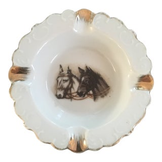 Mid-Century Modern China Horses Ashtray