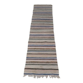 "19th Century Swedish Handmade Rag Rug - 22""x 87 For Sale"