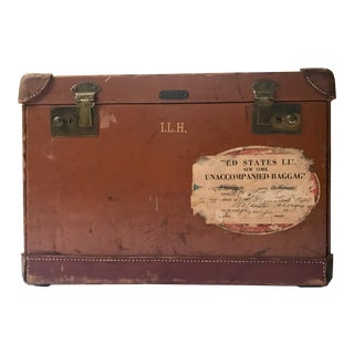 Early-Mid Century Crouch & Fitzgerald Leather Traveling Book Case For Sale