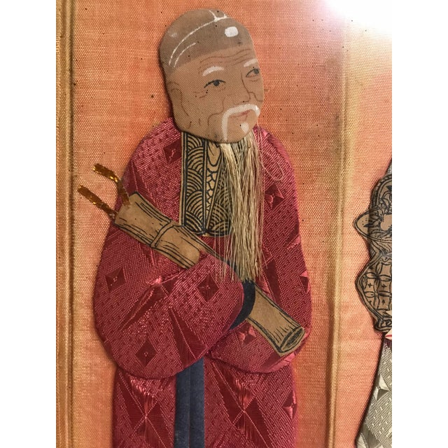 19th Century Framed Chinoiserie Figures For Sale - Image 11 of 12
