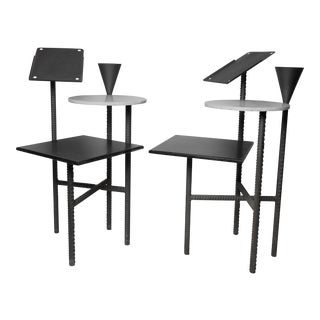 Two 1980s Philippe Starck Paramount Hotel Side Tables