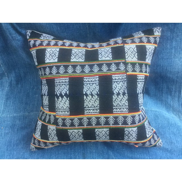 Asian Tribal Textile Pillow - Image 2 of 6