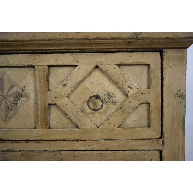 1970s Baroque Style Bleached Wood Chest of Drawers For Sale - Image 7 of 10
