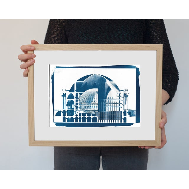 Cyanotype Print - Neoclassical Building - Image 2 of 3