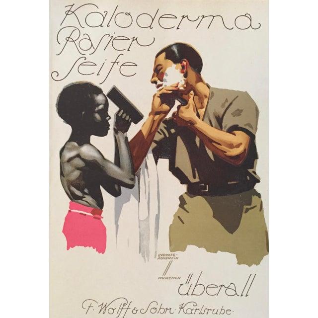 1927 German Art Deco Fashion Poster, Kaloderma Rasier Seife - Image 3 of 5