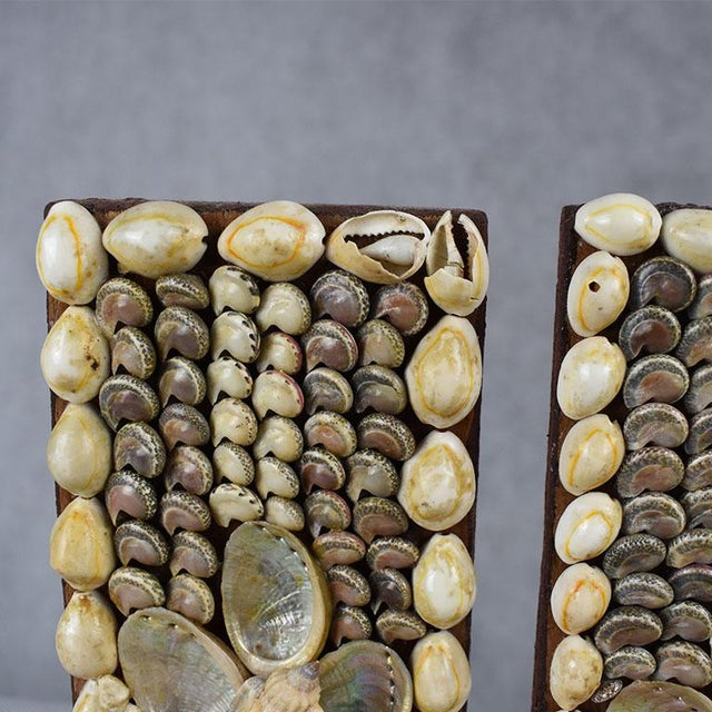 Mid 20th Century Shell Encrusted Bookends - a Pair For Sale - Image 5 of 9