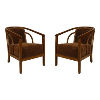 Mid-Century Beechwood Arm Chairs For Sale