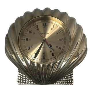 Vintage Ship's Time Brass Shell Clock