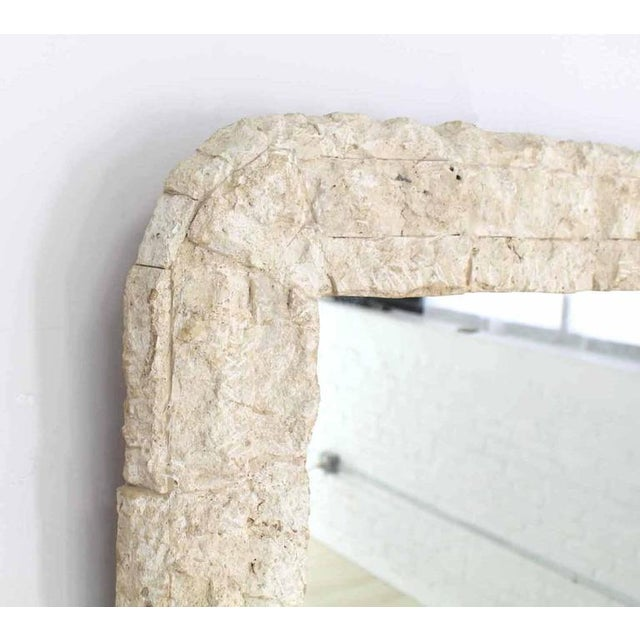 Early 20th Century Crushed Rock Tile Console Table with Mirror For Sale - Image 5 of 9
