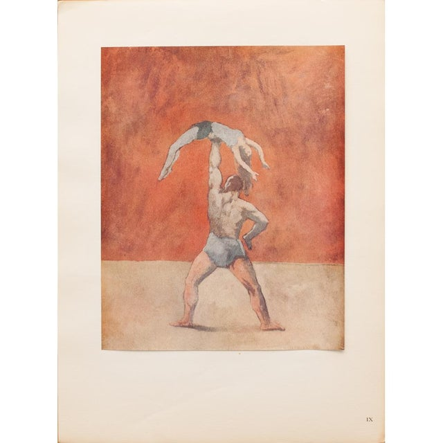 """1948 Pablo Picasso """"Acrobats"""" First Edition Period Parisian Lithograph With C. O. A. For Sale - Image 9 of 10"""