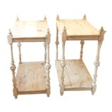 Image of Late 19th Century English Pine Side Tables- a Pair For Sale