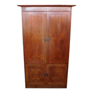 Stickley Furniture Mission Oak Arts & Crafts Entertainment Tv Cabinet Armoire 89-1753 For Sale