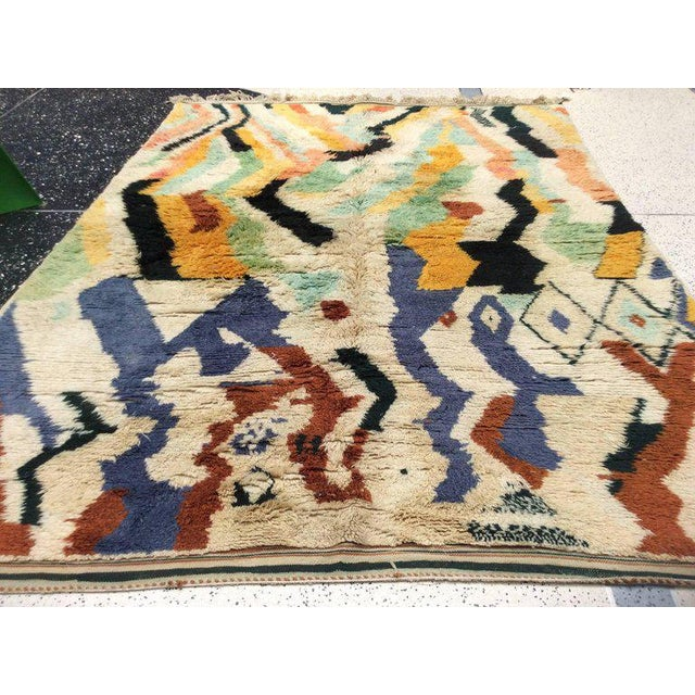 Multi-Color Moroccan Rug - 8′3″ × 11′5″ For Sale In San Francisco - Image 6 of 8