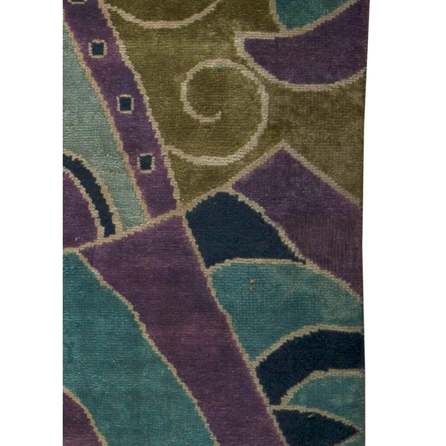 Bold Vintage French Art Deco Rug For Sale In New York - Image 6 of 8