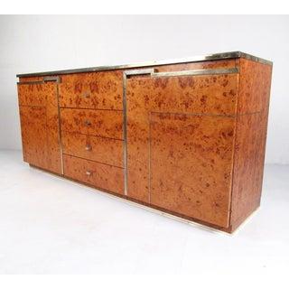 Mid-Century Modern Burlwood Sideboard After Romeo Rega Preview