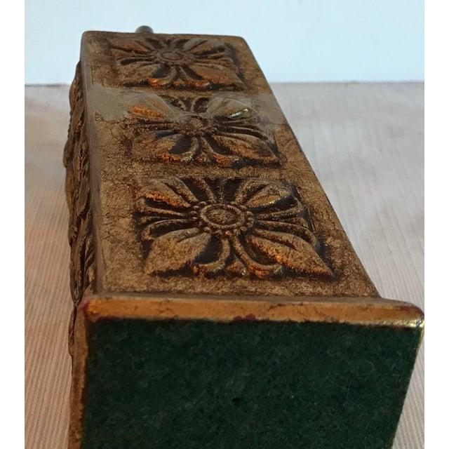 Wood Italian Florentine Gilt Carved Wood Table Lighter For Sale - Image 7 of 8