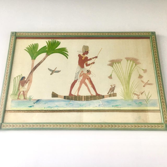 Naive Watercolour Painting of an Ancient Egyptian Scene For Sale - Image 6 of 6