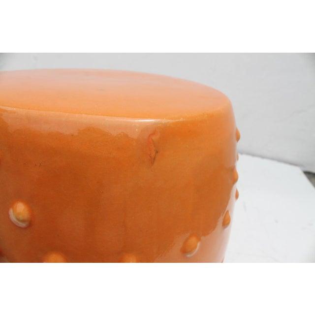 Orange Ceramic Garden Stool For Sale In Miami - Image 6 of 7