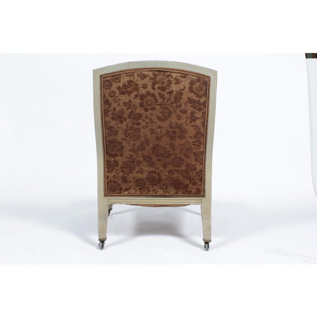Floral Upholstered Low Side Chair Napoleon III For Sale - Image 10 of 11
