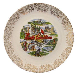 Vintage North Carolina Transferware Plate For Sale