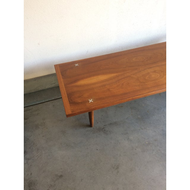 Mid-Century Modern Walnut Coffee Table by American Of Martinsville - Image 5 of 5