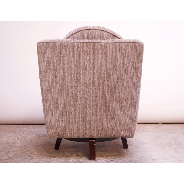 Edward Wormley for Dunbar Revolving Lounge Chair in Mahogany For Sale In New York - Image 6 of 13