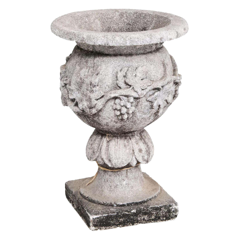 Vintage Cast Stone Garden Urn