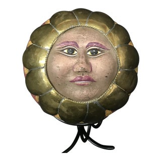 Bustamante Style Sun Globe Face on Stand For Sale
