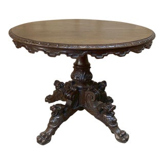 19th Century Renaissance Oval Center Table For Sale