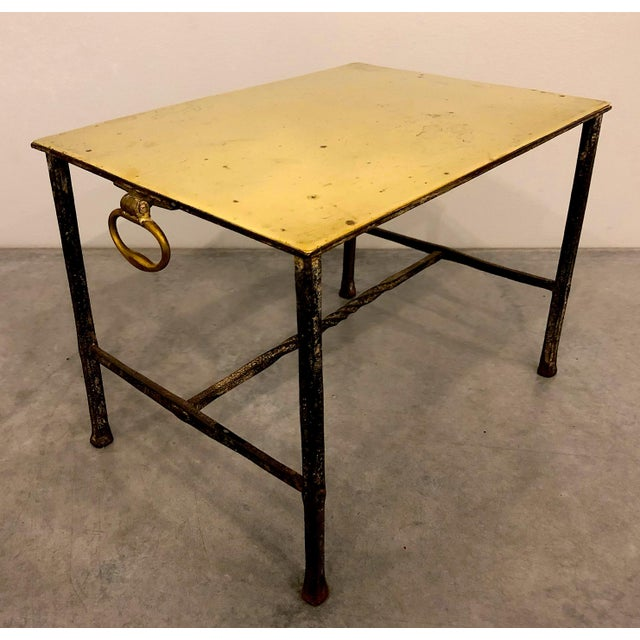 Brass Brass Fireplace Pot Stand For Sale - Image 7 of 7
