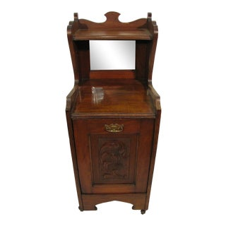 English Wooden Coal Hod For Sale