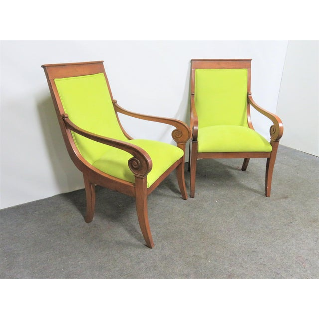 Ethan Allen Regency Style Chairs- a Pair For Sale - Image 11 of 11