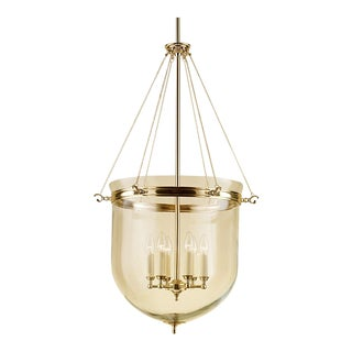 6 Candle Brass Lantern With Glass For Sale