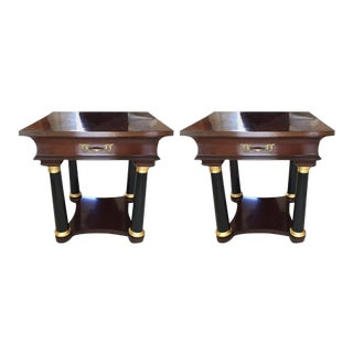 Neoclassical Style Nightstands - a Pair For Sale