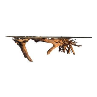 Beach Driftwood Coffee Table For Sale