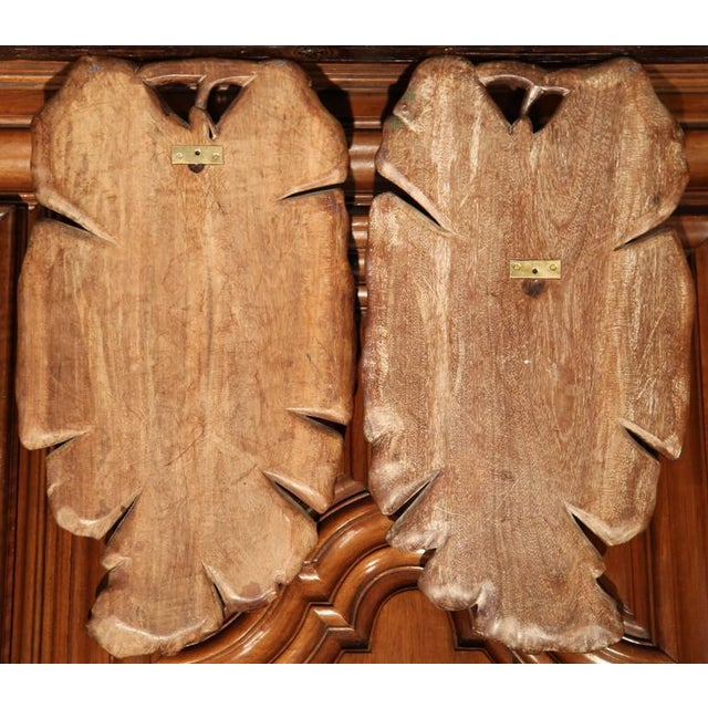 Wood Early 20th Century French Carved Black Forest Walnut Pheasant Trophies - a Pair For Sale - Image 7 of 7