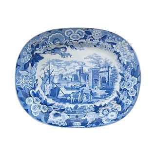 Antique Staffordshire Platter, C. 1820 For Sale