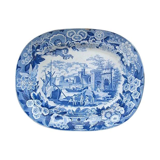 Antique Staffordshire Platter, C. 1820 For Sale