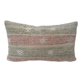 """Vintage Turkish Decorative Kilim Pillow Cover - 20"""" x 12"""" For Sale"""