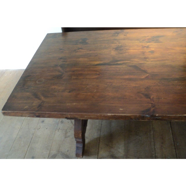 Antique Baroque Large Harvest Table - Image 9 of 11