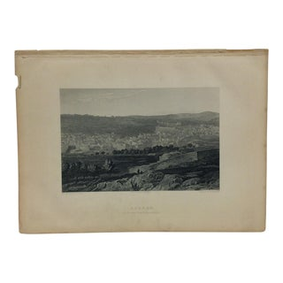 "Antique Original Engraving on Paper ""Hebron"" by J. Cramb Circa 1890 For Sale"