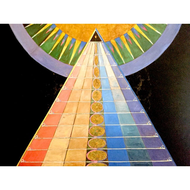 "Hilma Af Klint Abstract Lithograph Print Moderna Museet Sweden Exhibition Poster "" Altarpiece No.1 Group X "" 1915 For Sale - Image 9 of 13"