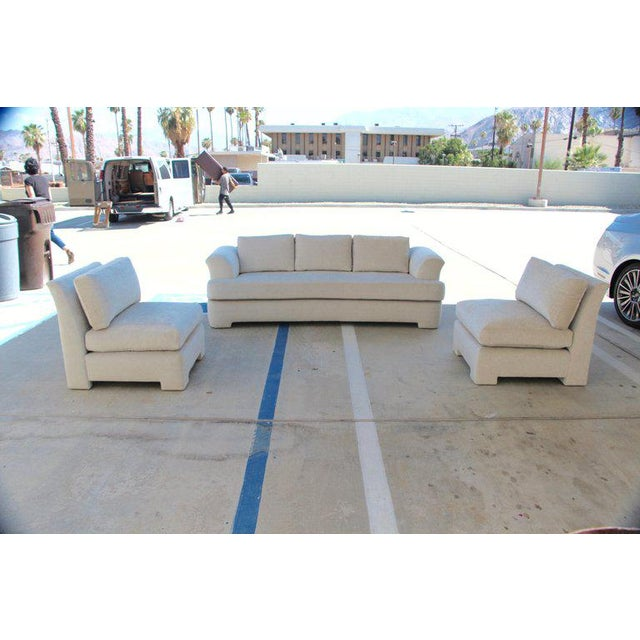Marge Carson Hollywood Regency Sofa and Chairs Redone in Knoll Summit Fabric For Sale - Image 13 of 13