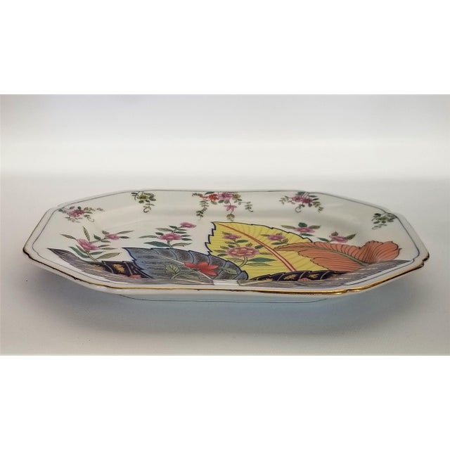 Art Deco Vintage Japanese Porcelain Tobacco Leaf Tray - Signed 1977 For Sale - Image 3 of 12