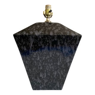 Ceramic Trapezoid Table Lamp For Sale