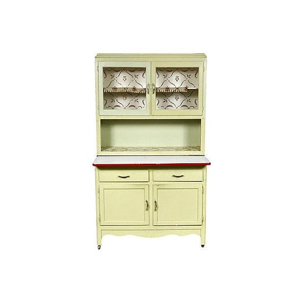 Antique 1920s Hooiser-Style Storage Cabinet - Image 1 of 6